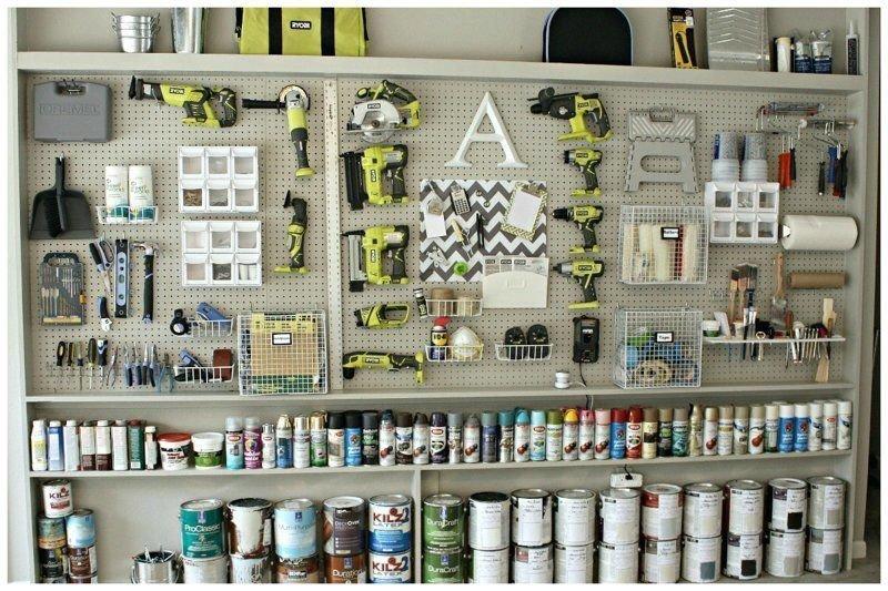 14. Гараж любителя красить и не только гараж, идеальный, инструменты, мастерская, перфекционизм, порядок