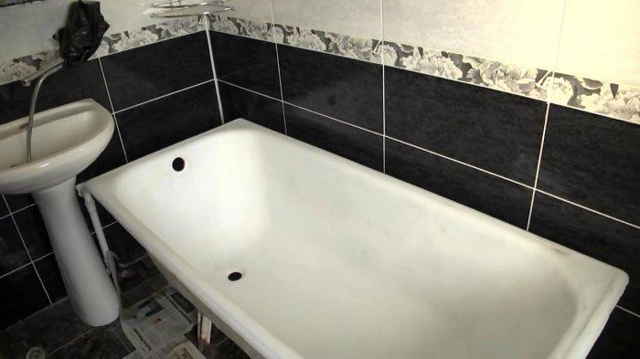 Реставрация ванны жидким акрилом своими руками