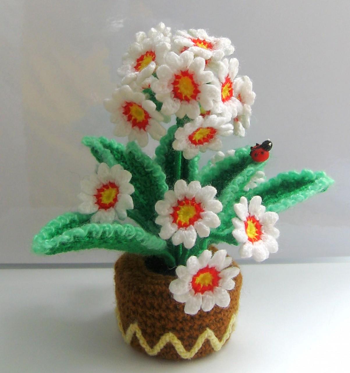 Вязание крючком поделки цветы