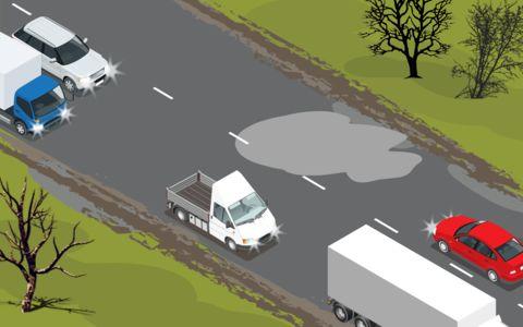 Лужа на встречке: как избежать аварии?