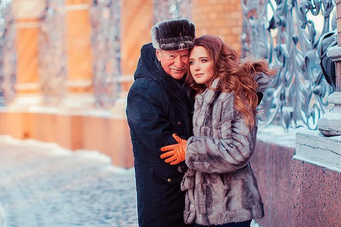 Романтика: зимняя фотосессия скандальной семейной пары актеров Краско