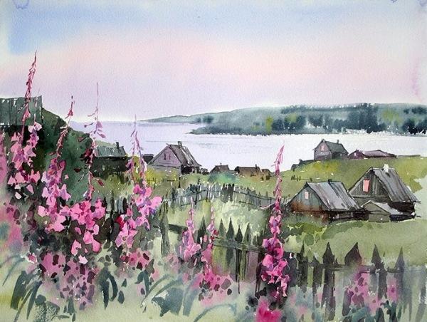 Прозрачная красота и сила акварелей русского Севера работы Анны Михайловой