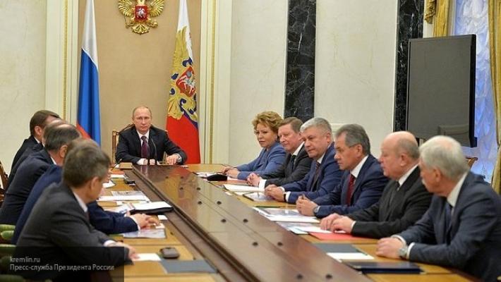 Президент РФ Владимир Путин провел заседание Совета безопасности в Сочи
