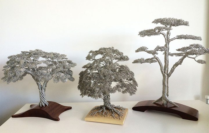 скульптуры деревьев из проволоки клайв мэдиссон (10)