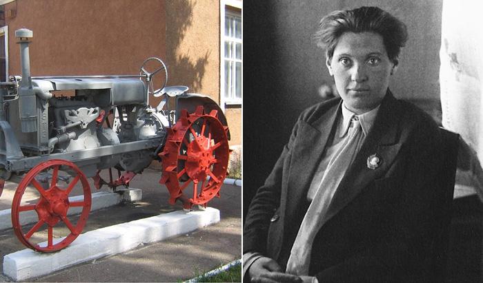 Прасковья Никитична Ангелина и ее трактор