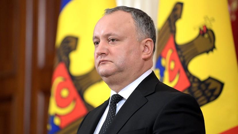 Додон предложил разработать концепцию нейтралитета Молдавии