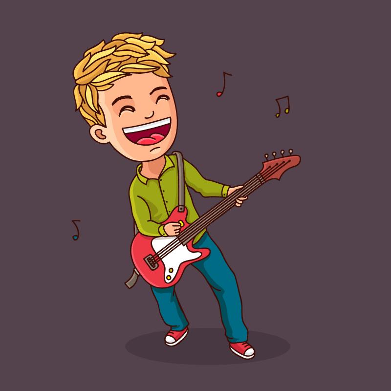 Анекдот про паренька, который брал уроки игры набас-гитаре
