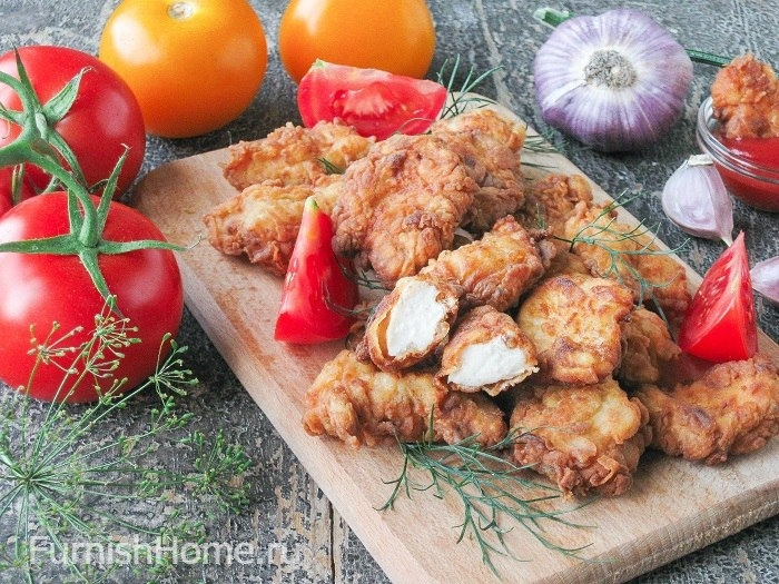 Острый попкорн из курицы