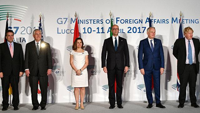 Главы МИД G7 на встрече в Лукке не приняли решения о санкциях против России