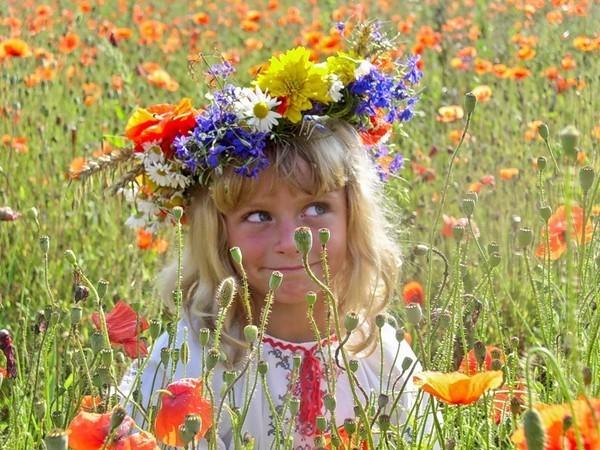 Летние детские фото в венках из цветов!