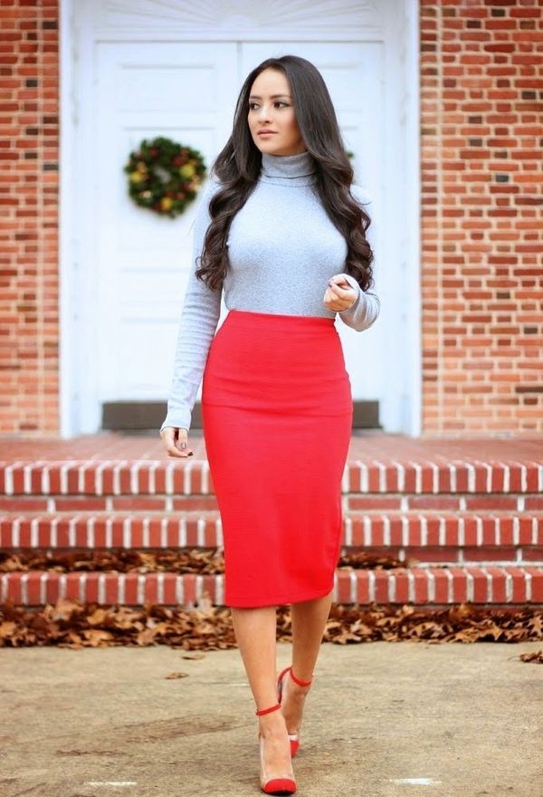 Красная юбка: эффектные летние образы