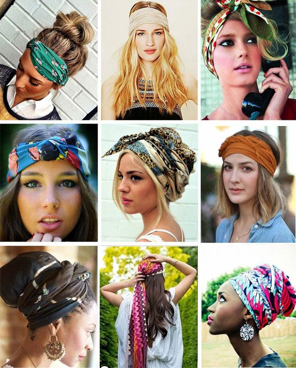 Модный платок на голову 189