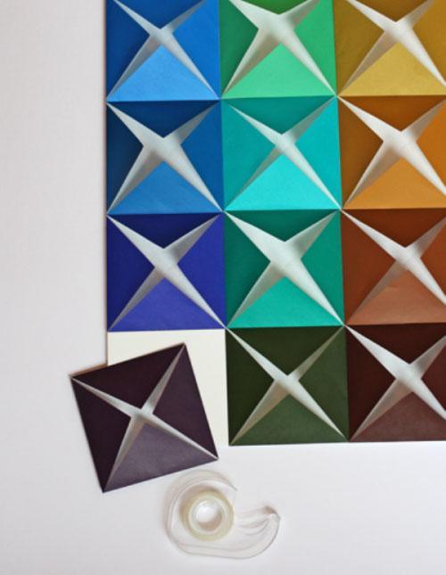 Панно на стену из цветной бумаги своими руками