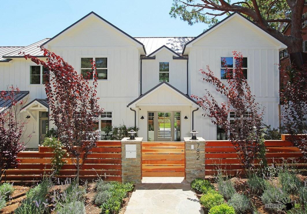 Белый фасад частного дома – …