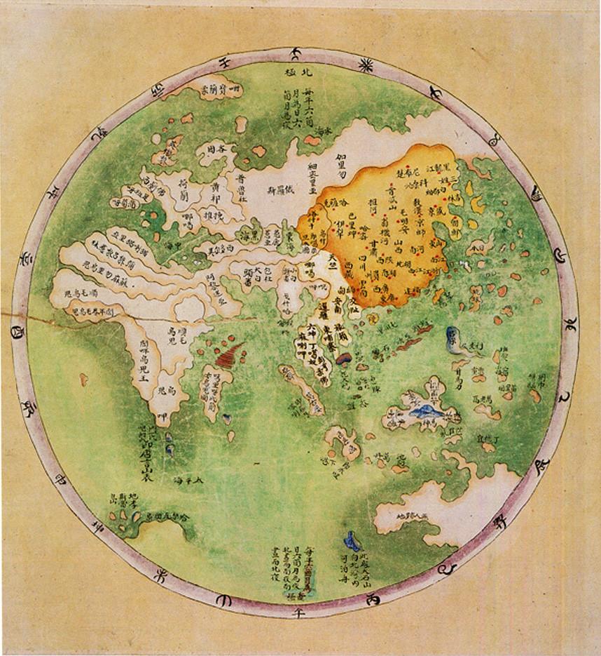 Китайская карта, около 1799 года
