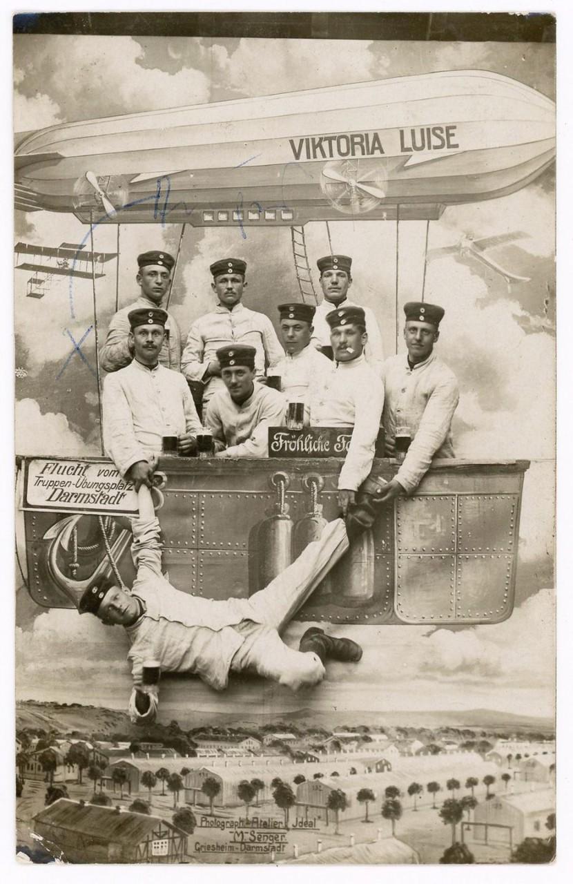 Фотошопили как могли: фотографии 1912-1945 годов с армейским юмором