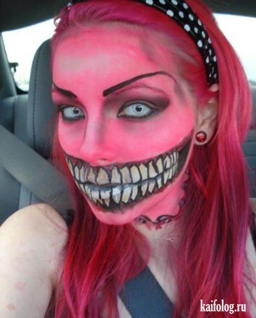 Смешной макияж на лице фото