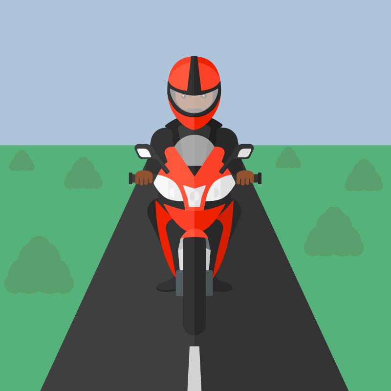 Анекдот про мотоциклиста, который врезался влетящего воробья