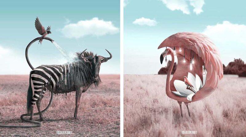18 фантастических тварей французского цифрового художника Жюльена Табе