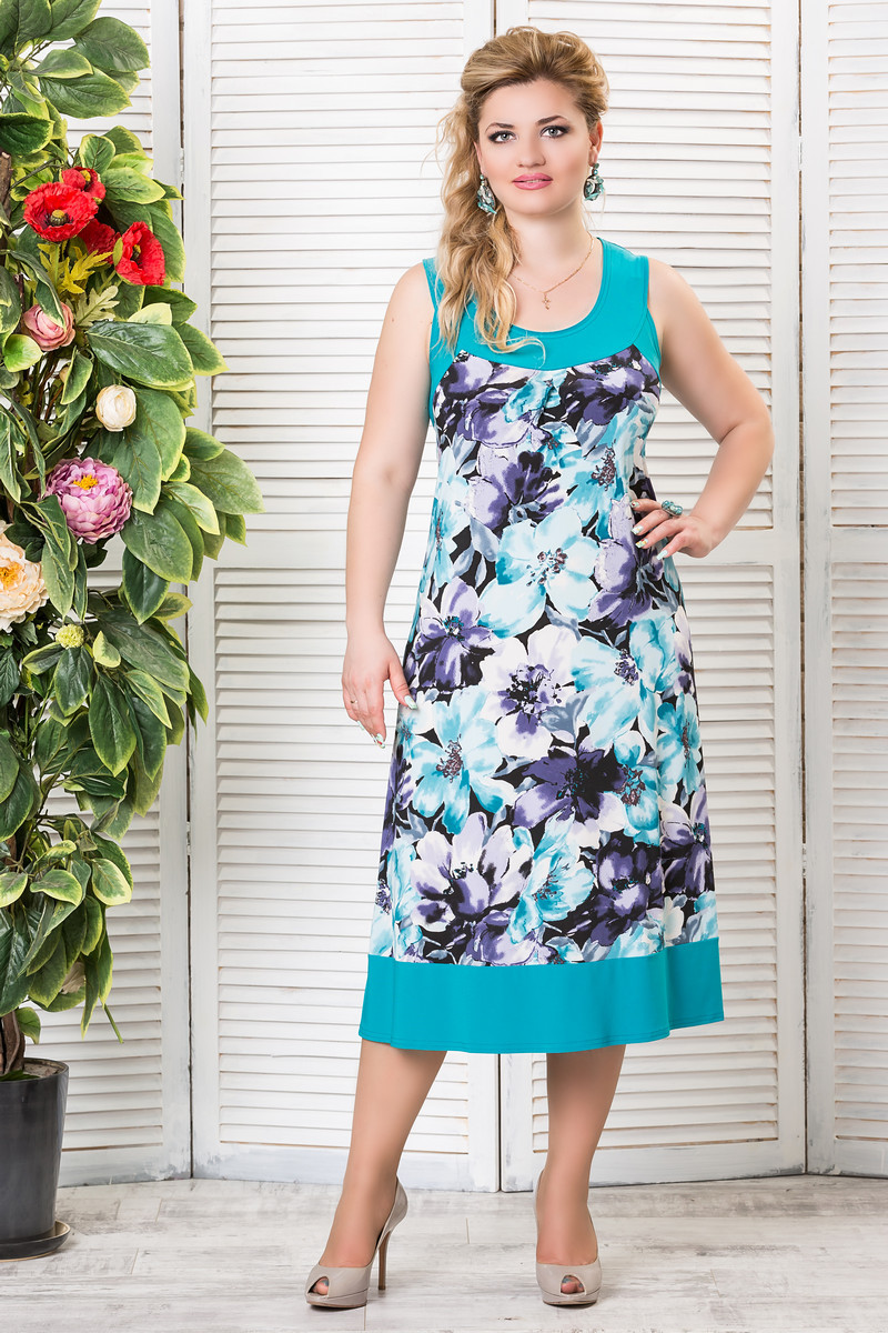 Платья А-силуэта для полных женщин