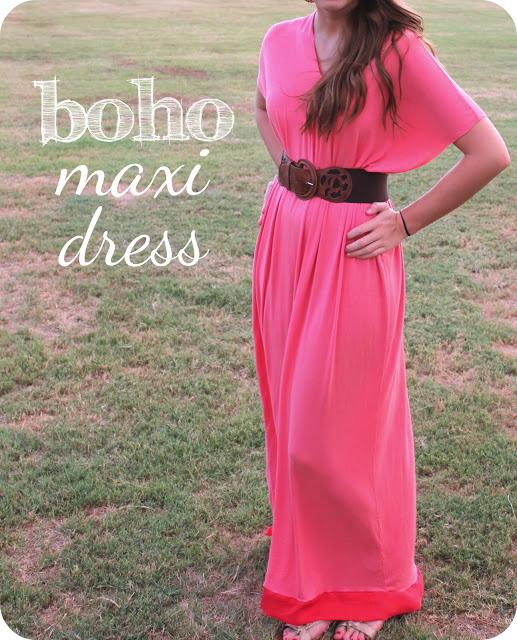 Шъём платье макси в стиле бохо из джерси