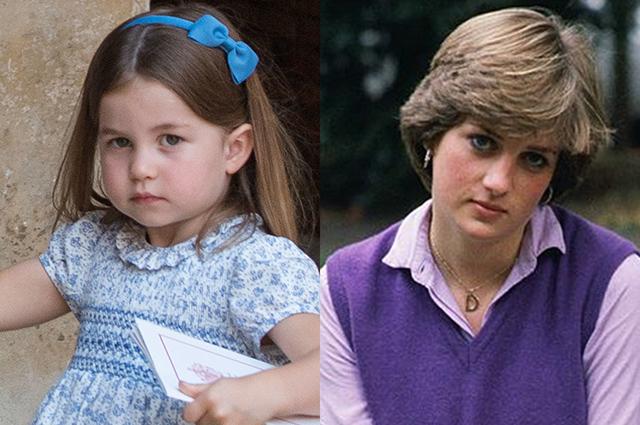 В сети обсуждают сходство принцессы Шарлотты и принцессы Дианы