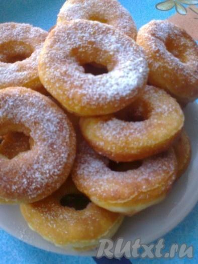 Творожные пончики-колечки