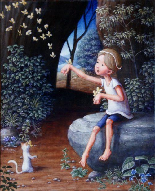 Чтобы не забыли, повзрослев —  мир детской мечты на картинах художника Shinya Okayama