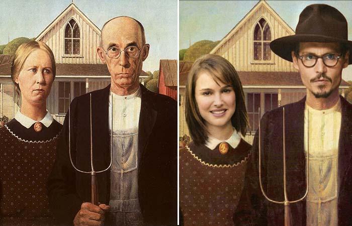 «Американская Готика» Вуда - картина, которая уже более 80 лет является мишенью для едких шуток и пародий