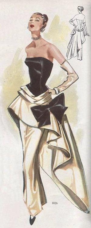 Ретро во всей красе — модели нарядных платьев 50-х годов прошлого века