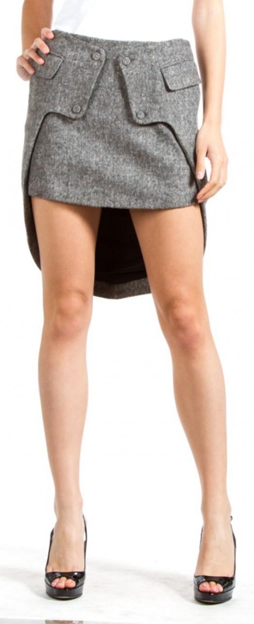 Деловая юбка с полушлейфом
