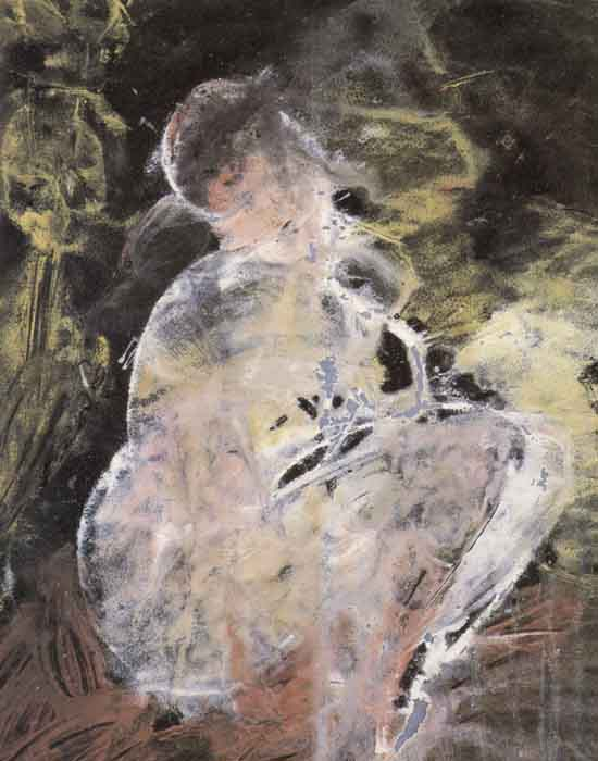 "Зверев А. ""Сидящая девушка"", 1963"