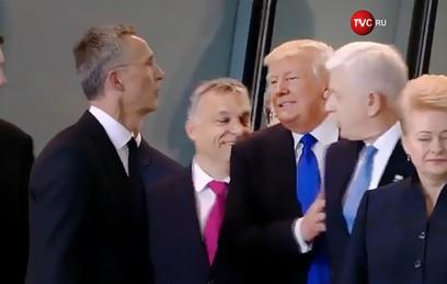 Белый дом объяснил инцидент с оттолкнувшим премьера Черногории Трампом