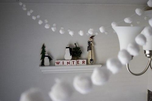 Снегопад из ваты