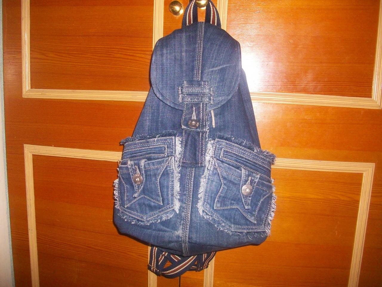 Рюкзак торба своими руками из джинсов
