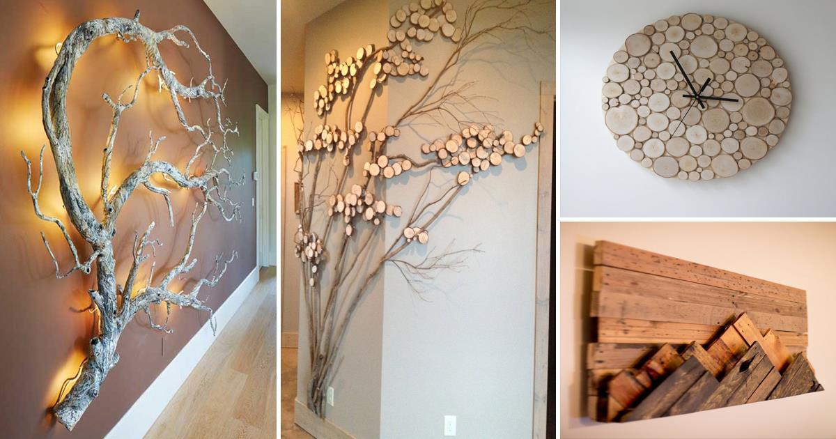 15 идей декора из натурального дерева, наполняющих интерьер теплом и уютом