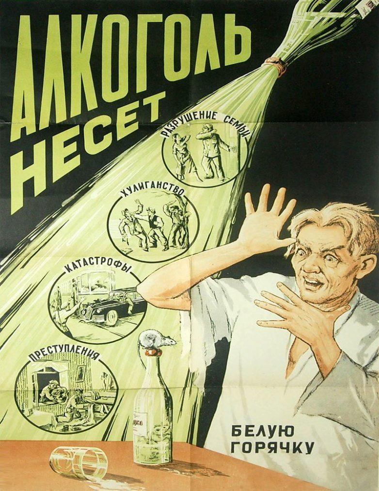 Советские карикатуры о вреде пьянства