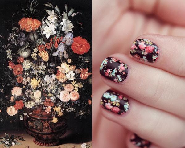 Как создать необычный рисунок на ногтях