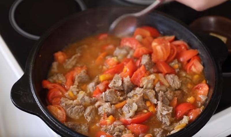 жареные макароны с мясом рецепт
