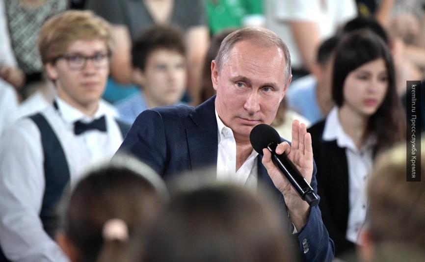 «Недетский разговор с Владимиром Путиным» посмотрели более 1,4 млн россиян