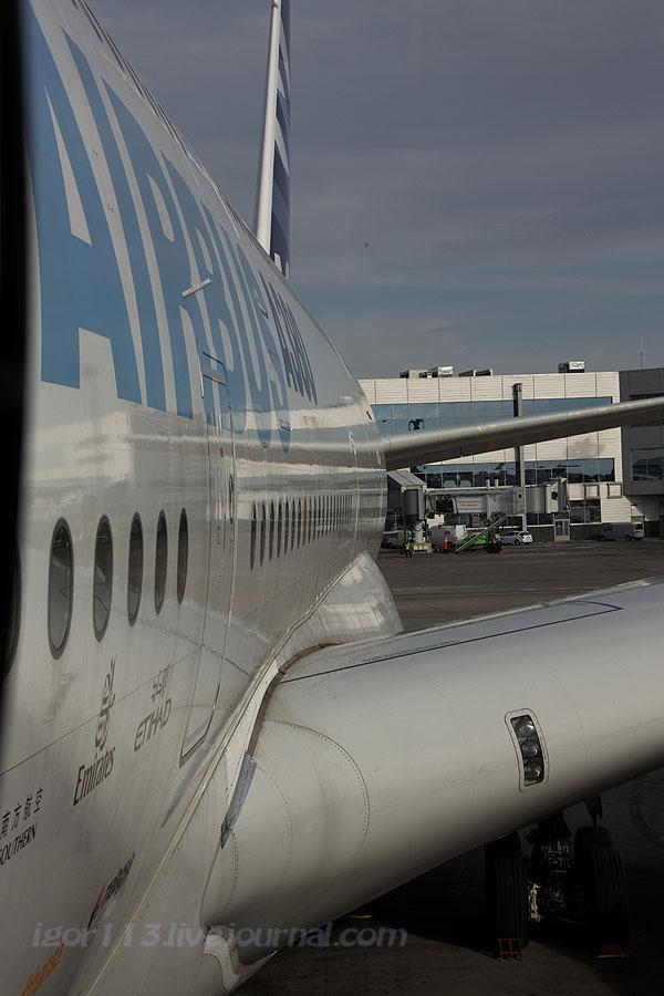 MSN004 A380-861 впервые в РФ ч.2 внутренности