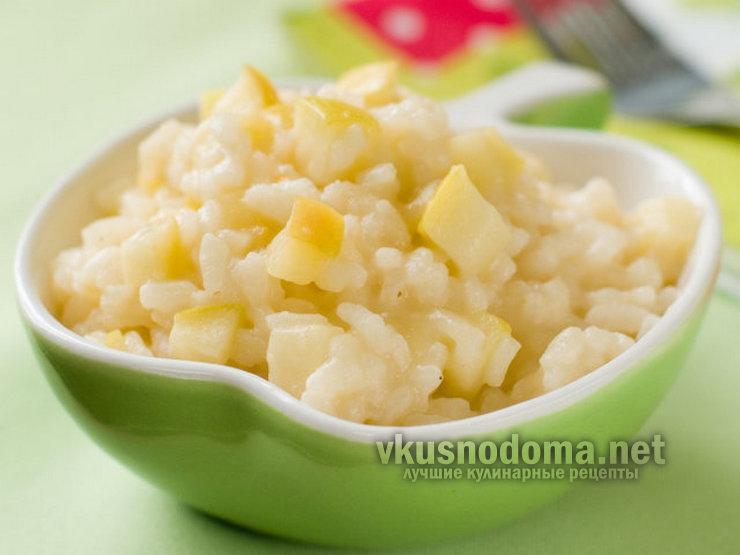 Рисовая каша с кабачком