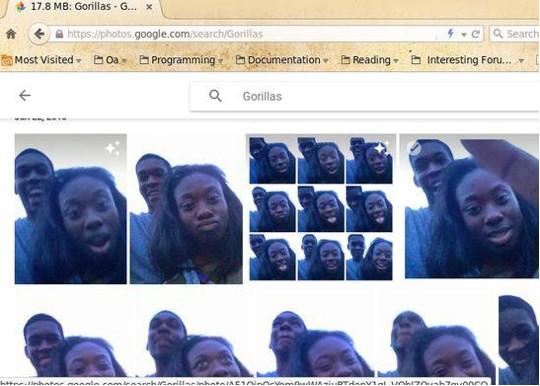 Google запретил в фотопоиске слово «горилла», чтобы не огорчать афроамериканцев
