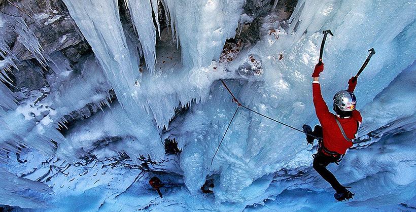 Замерзший водопад Фэнг