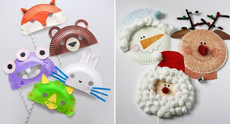 детские поделки из одноразовых тарелок