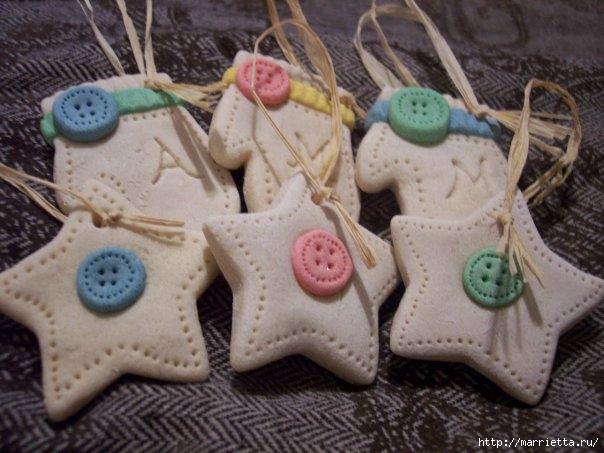 Новогодние игрушки своими руками из соленого теста