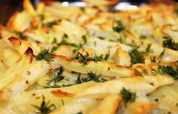Картофель, запечённый без масла