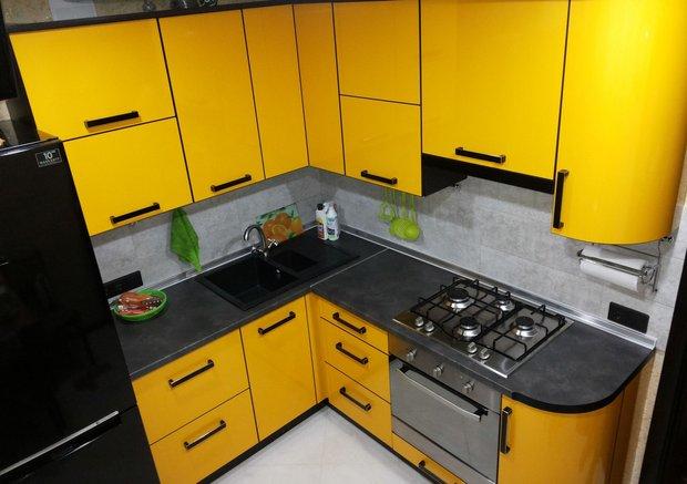 Моя желтая кухня в хрущевке