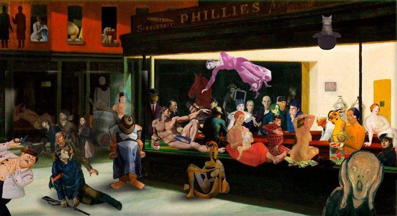 Как герои картин Гогена, Мунка, Пикассо и Ван Гога оказались вместе ночью в баре