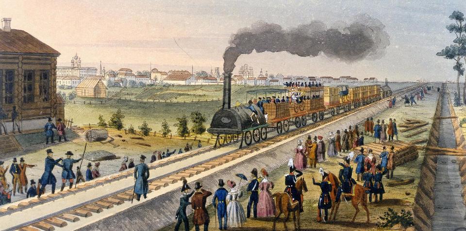 Поезда в русской литературе XIX века
